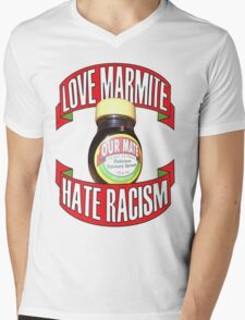 love marmite hait racism Mens V-Neck T-Shirt