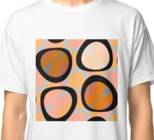 Nouveau Retro Graphic Orange Brown and Peach Classic T-Shirt