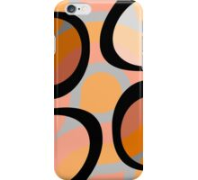 Nouveau Retro Graphic Orange Brown and Peach iPhone Case/Skin