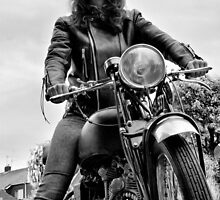 Girl on a Motorcycle by Brian Avery
