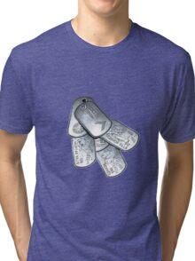 battlefield dogtags Tri-blend T-Shirt
