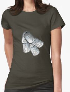 battlefield dogtags Womens Fitted T-Shirt
