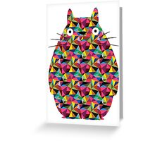 Mosaic Totoro Greeting Card
