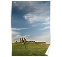 Dunstanburgh castle and sky  Poster