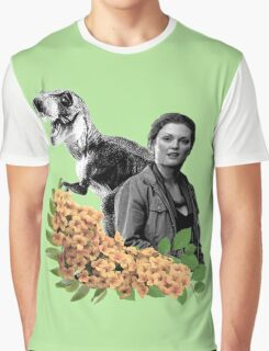 Sarah // T Rex - Woman Inherits The Earth Graphic T-Shirt