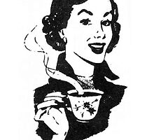 Lady with Coffee phone by Vana Shipton