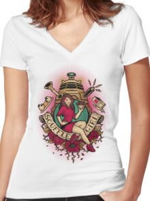 Souffle' Girl Women's Fitted V-Neck T-Shirt