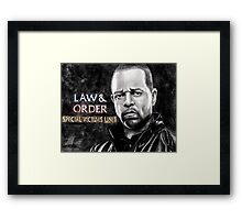 Fin Tutuola from Law and Order svu Framed Print