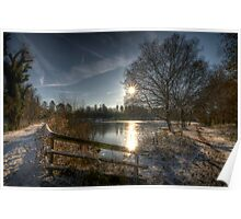 A Postcard Winter at Alice Holt Poster