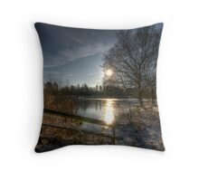 A Postcard Winter at Alice Holt Throw Pillow