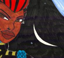 Starship Captain Veronica Daring Sticker