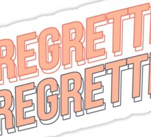 JE NE REGRETTE RIEN / I REGRET NOTHING / BTS 화양연화 THE MOST BEAUTIFUL MOMENT IN LIFE PT.2 Sticker
