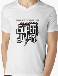 Everything is Super Mens V-Neck T-Shirt