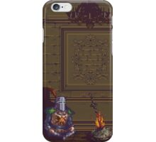 Pixel Solaire in Anor Londo Print iPhone Case/Skin