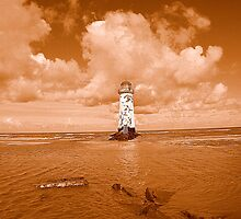 Point Of Ayr Lighthouse At Talacre by Stan Owen