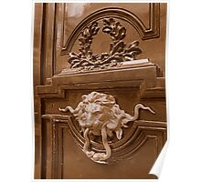 Imposing door knocker Poster