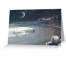 Moon Surface Greeting Card