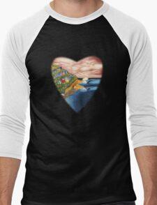 Surf Heart T Shirt Men's Baseball ¾ T-Shirt