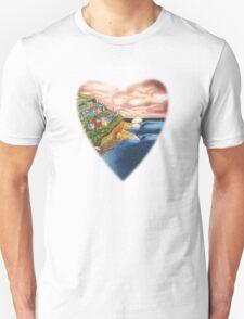 Surf Heart T Shirt T-Shirt