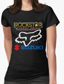 Rockstar Energy Suzuki Fox Racing Team Womens Fitted T-Shirt