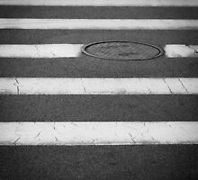 Crosswalk with Manhole by William Fehr