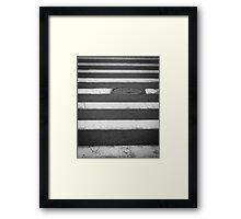 Crosswalk with Manhole Framed Print