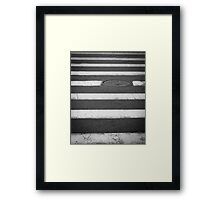 Crosswalk with Manhole Framed Print