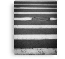 Crosswalk with Manhole Canvas Print