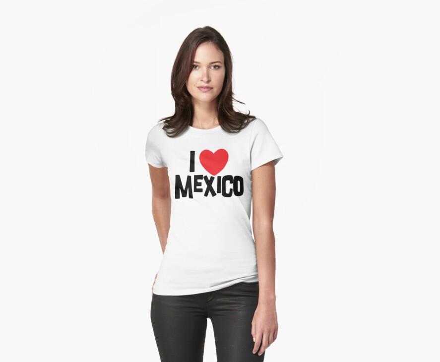 I Love Mexico by HolidayT-Shirts