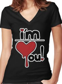 i'm over you! Women's Fitted V-Neck T-Shirt