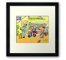 Shopping, The adventures of Primo and Ada Framed Print