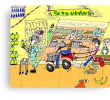 Shopping, The adventures of Primo and Ada Canvas Print