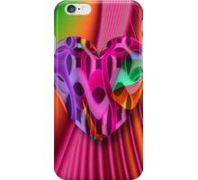 Cool romantic heart on abstract background iPhone Case/Skin