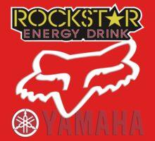 Rockstar Energy Yamaha Fox Racing One Piece - Short Sleeve