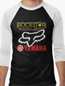 Rockstar Energy Yamaha Fox Racing Men's Baseball ¾ T-Shirt