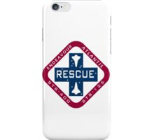 STS-400 Contingnecy Rescue Mission Logo iPhone Case/Skin