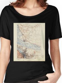 USGS Topo Map Washington State WA Portland 243244 1905 62500 Women's Relaxed Fit T-Shirt