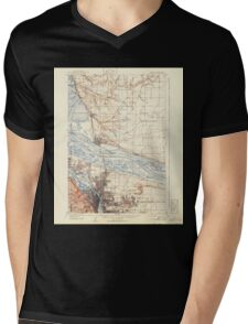 USGS Topo Map Washington State WA Portland 243244 1905 62500 Mens V-Neck T-Shirt
