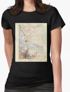 USGS Topo Map Washington State WA Portland 243244 1905 62500 Womens Fitted T-Shirt