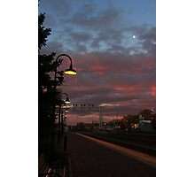 Mooning A Sunrise Photographic Print