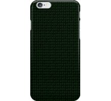 Binary (black background) iPhone Case/Skin