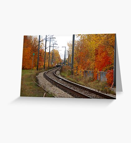 The Rails in Autumn Greeting Card