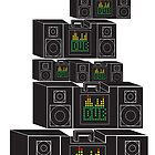 Dub- Boombox Collage by impulsiVdesigns