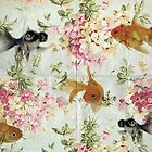Gold fish wall paper by vinpez