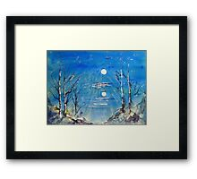 By the Light of the Silvery Moon -  Framed Print