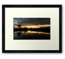 Eling sunset Framed Print