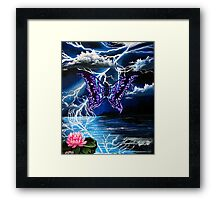 night of the purple butterfly Framed Print