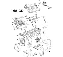 4A-GE Engine Diagram (Bright Colors) Photographic Print