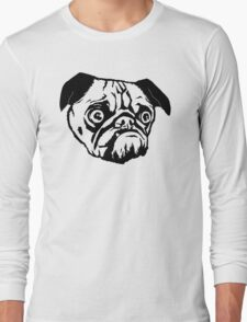 MEAN MUG PUG - Ozzy inked Long Sleeve T-Shirt