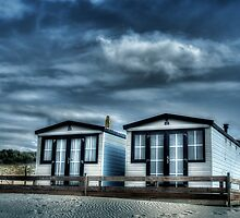 Beach cabins in The Netherlands by Michiel Buijse